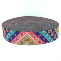 HOT!!! 2015 NEW  wholesale 7/8'' 22mm Wide Chromatic geometry 3D design Woven Jacquard Ribbon dog chain accessories 10yards/lots