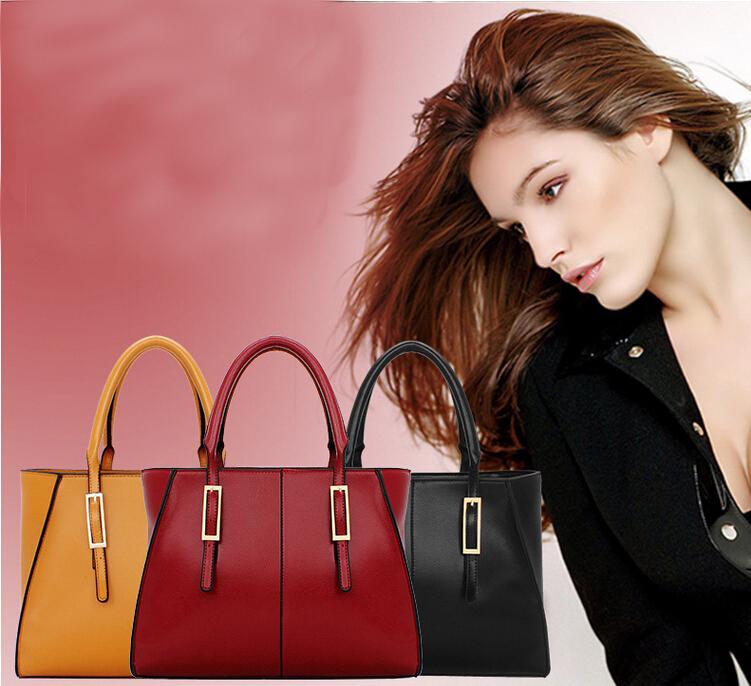 2015 Genuine Leather Style Tote Cow Patent Women Handbag Crossbody Bag Fashion Shoulder Bag Joker Women Messenger Bags(China (Mainland))