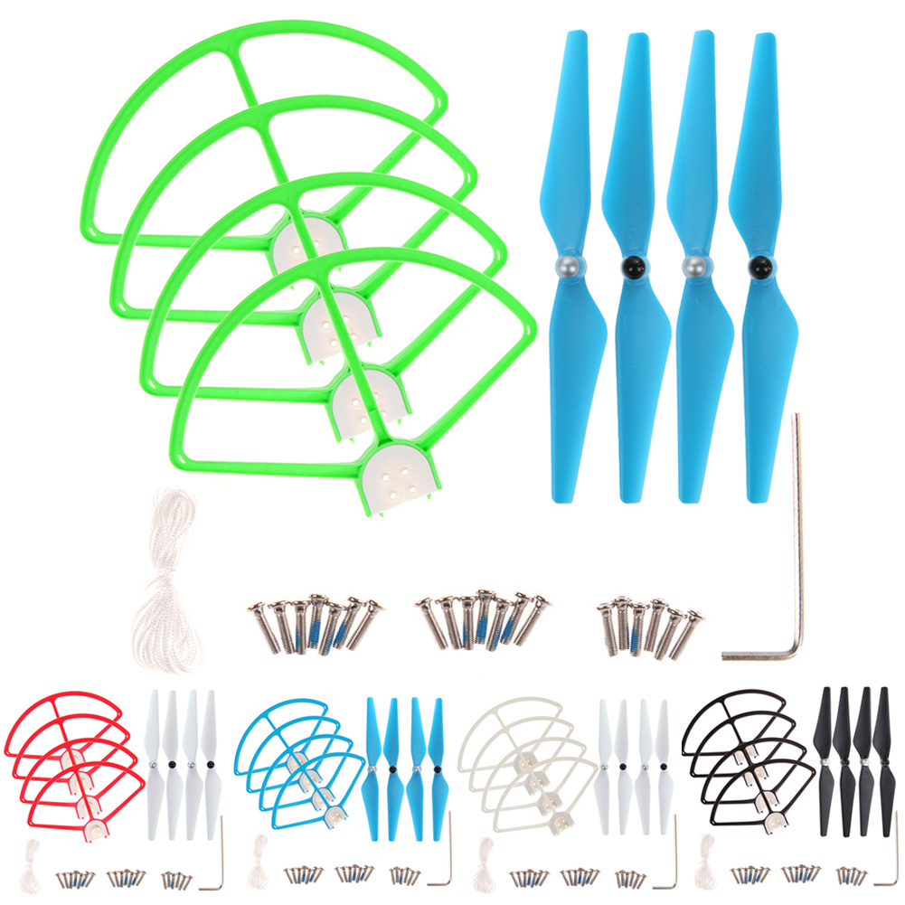 4Pcs 9450 RC Quadcopter Replacement Propellers + 4Pcs Protection Cover for DJI Phantom 3 Quadcopter Repair Parts K5BO