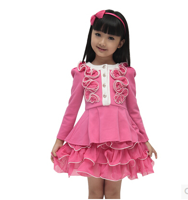 Cheap Girls Fall Dresses New Korean version fall
