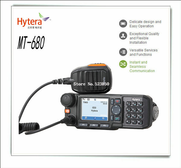 Free Shipping high power output 10w UHF806-870MHz 1024 channel hytera MT680 antenna transmitter walkie talkie(China (Mainland))