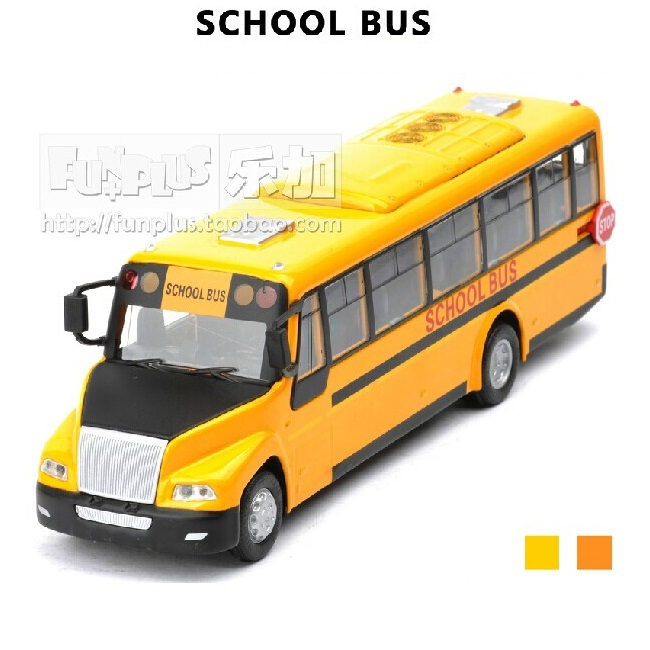 High Simulation Model Toys: Big Nose American School Bus Model Alloy Bus Model Excellent Gifts(China (Mainland))