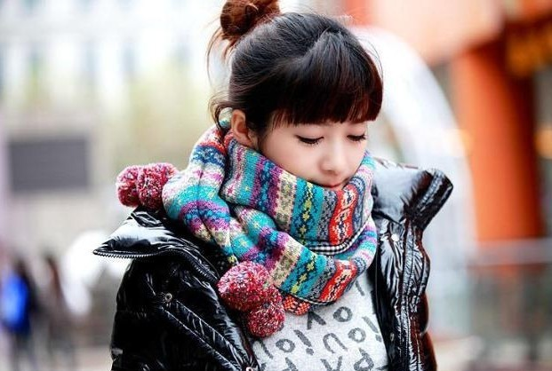 Autumn Winter Female Scarf Antique National Storm Bohemian Style Scarf With Hair Bulb Ball Scarf