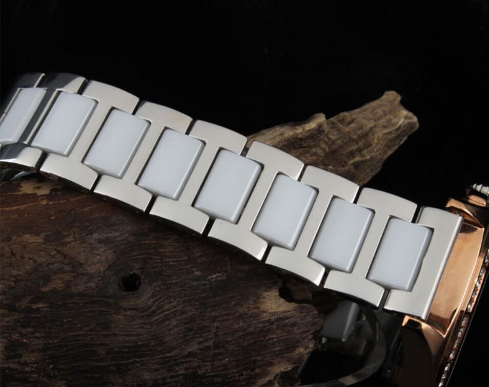 20 мм серебряный браслет из нержавеющей стали ремешок для часов двойной нажмите часы пряжка бесплатная доставка