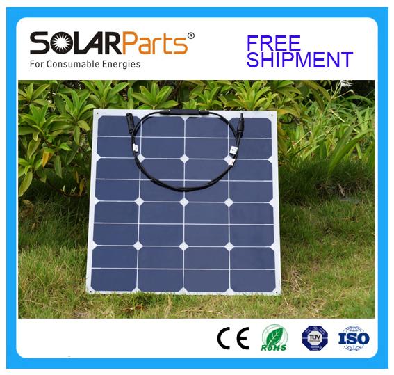 Solarparts 1pcs 50w PV Solar Panel/flexible Solar module solar cell outdoor sport travel marine yacht RV motor home battery use(China (Mainland))