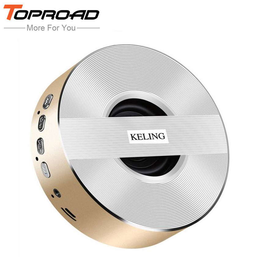 TOPROAD Mini Altavoz Bluetooth Speakers Portable Enceinte Blutooth Speaker Handsfree With Mic TF card Steel Metal 3D Sound Box(China (Mainland))