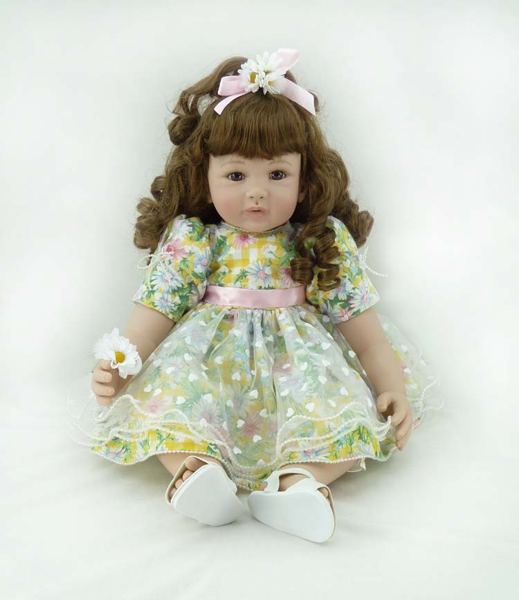 Fashion vinyl silicone reborn baby dolls accompany sleeping lifelike princess toddler doll kid high-end christmas new year gifts