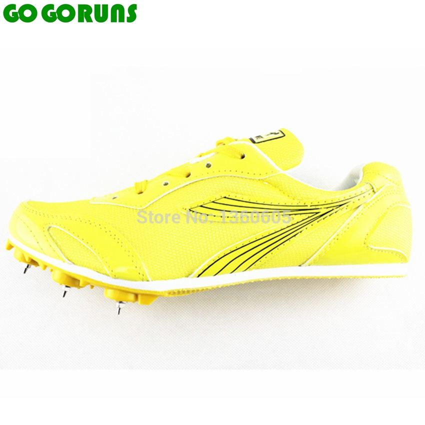 men women spikes long or short Running dash sprint sports shoes breathable ultra light track field trainer athletic shoes(China (Mainland))