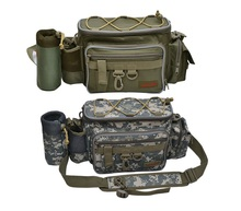Multifunctional 2012 lure waist pack messenger bag pole package fishing bag fishing tackle bag(China (Mainland))
