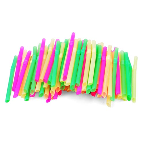 21CM package can bend pearl milk tea straw color art fruit juice drink disposable straw(China (Mainland))