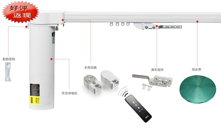 Electric Curtain Rail Electric Remote Control Electric Curtain Curtain Control System A Ok
