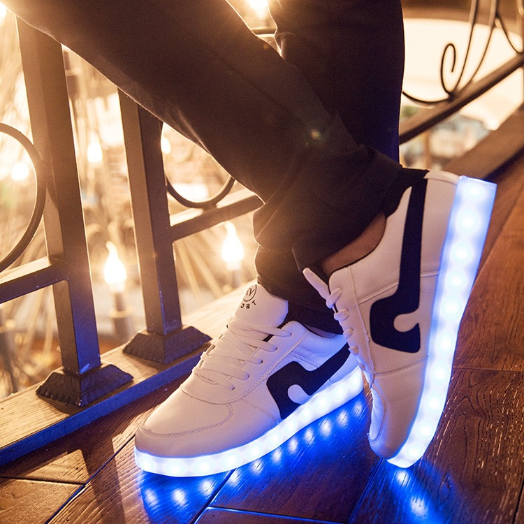 Free Shipping Led Shoes Unisex Valentine Fashion USB Rechargeable Light Up For Adults 7 Colors Luminous Men And Women LED Shoes<br><br>Aliexpress