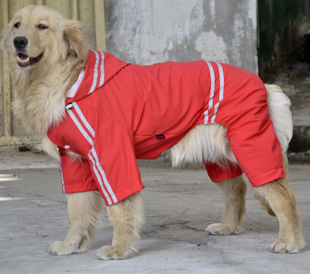 High quality Large Dog Raincoat Clothes Pet Rain Coat Products Four Legs Big Dogs Waterproof Poncho Yellow Red Green Blue DC132(China (Mainland))