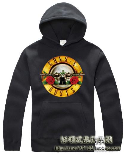 Лента с a капот флис пуловер толстовка пушки n розы утолщение верхней одежды мужчины в одежда