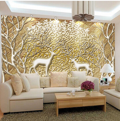 Customized large abstract photo mural 3d wallpaper living for 3d photo wallpaper for living room