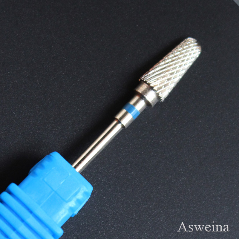 "Asweina Professional 1PCS Silver Coated Football Nails Pedicure Carbide Bit Tools (3/32"" Shank Size) Use On Nail Drill Machine(China (Mainland))"