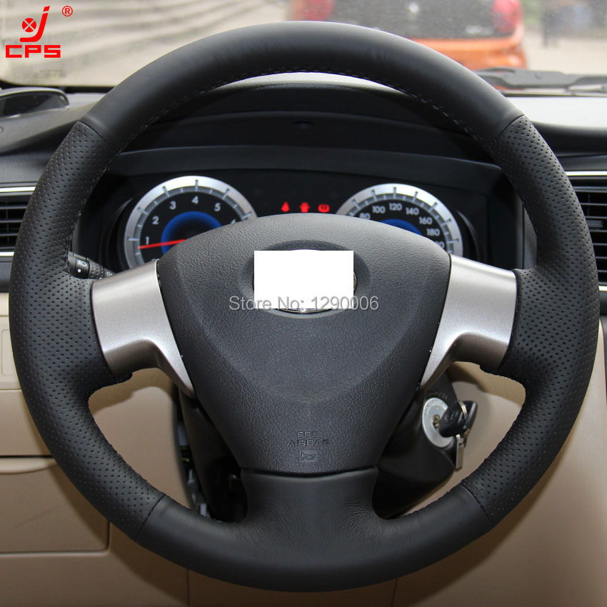 black leather steering wheel cover for toyota corolla 2006. Black Bedroom Furniture Sets. Home Design Ideas
