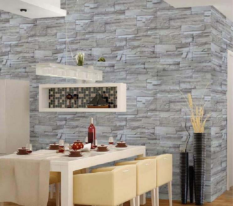 behang muur steen vorm pcv behang tv achtergrond zelfklevend behang ...