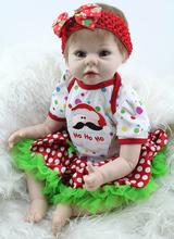 Мягкие Силиконовые Мода Ребенка Возрождается Куклы 22 Дюймов Реалистичные Новорожденных Девочек Прекрасных детей подарок на день рождения
