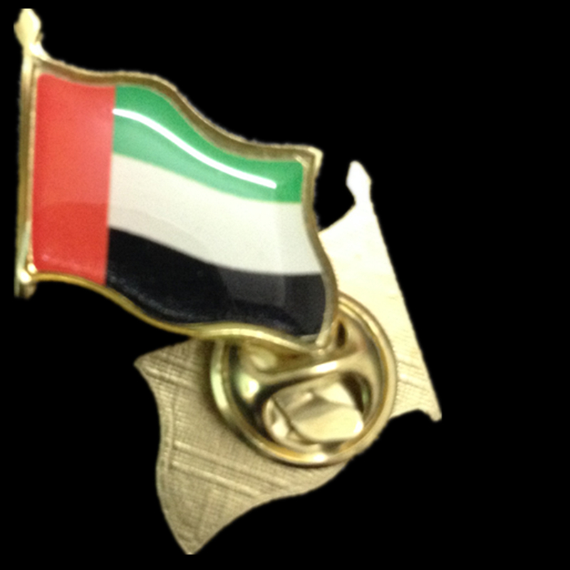 High Quality United Arab Emirates Flag Lapel Pins.Medal of army badge commemorative coin Free shipping 2pcs/lot(China (Mainland))