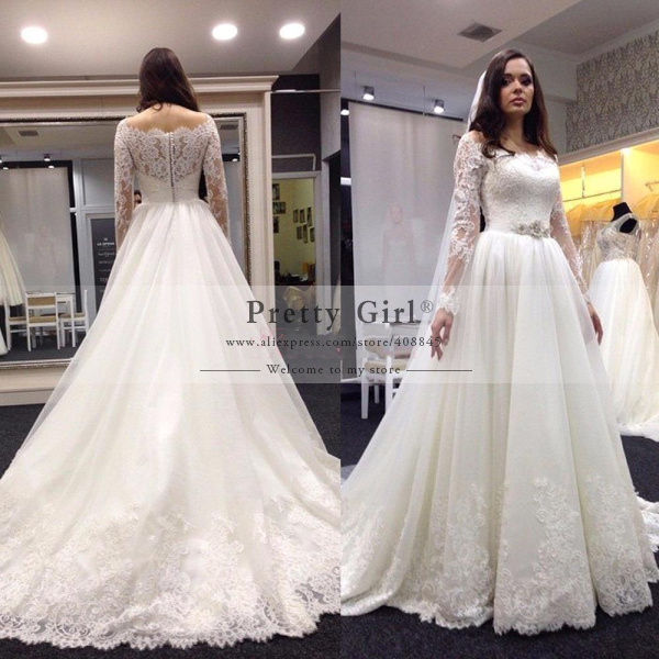 aliexpresscom buy vintage lace long sleeve wedding