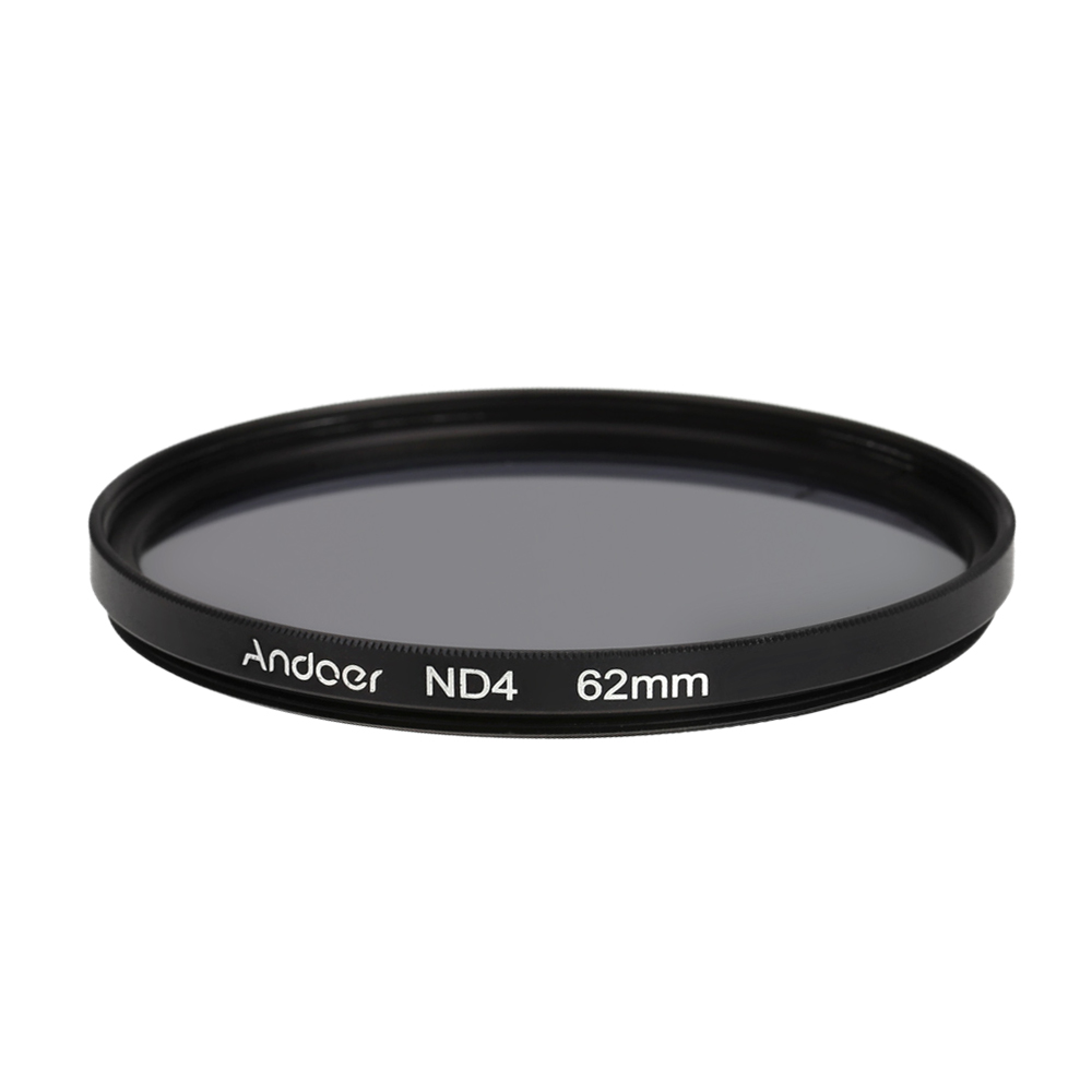 Andoer Neutral Density Filter 62mm ND4 Filter DSLR Cameras Filter Photography Filter for Nikon Canon Sony Cameras(China (Mainland))