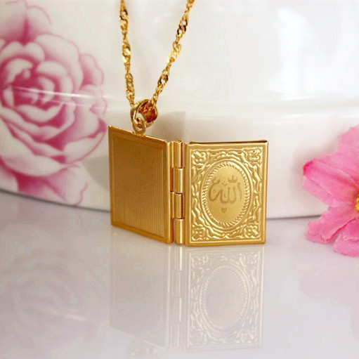 Allah Necklaces Pendants Fashion Jewelry Women Men Gift Free Shipping Trendy 18K Real Gold Plated Locket Pendant Necklaces BV50(China (Mainland))