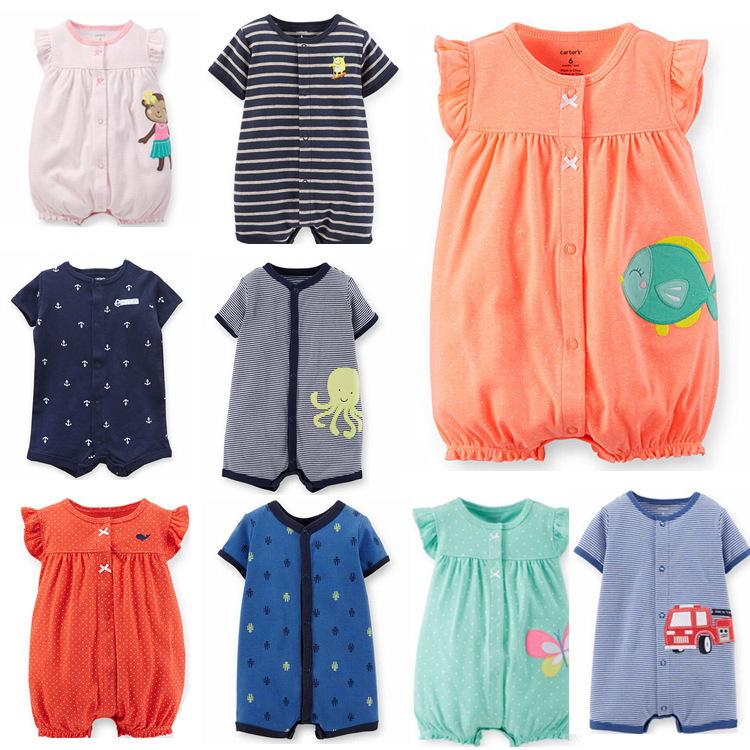 Гаджет  New 2015 summer Carters baby girl boy one-pieces jumpsuits baby clothing , short sleeve romper vestidos meninas roupas bebes None Детские товары