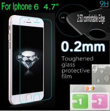 0.26mm Premium Tempered Glass for iPhone 6 4.7 inch 9H Hard 2.5D Arc Edge High Transparent Screen Protector with Clean Tools