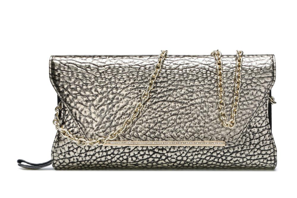 2016 New Designer Cowhide Ostrich Genuine Leather Women Long Shoulder Bag Chain Female Handbag Money Purse Evening Party <br><br>Aliexpress