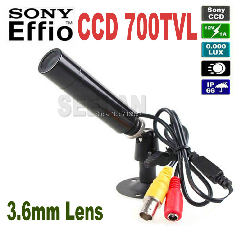 Mini Bullet Outdoor Waterproof 700 TVL Sony Effio CCD Color Hidden Wide Angle 3.6MM CCTV Security Camera for 960H DVR<br><br>Aliexpress