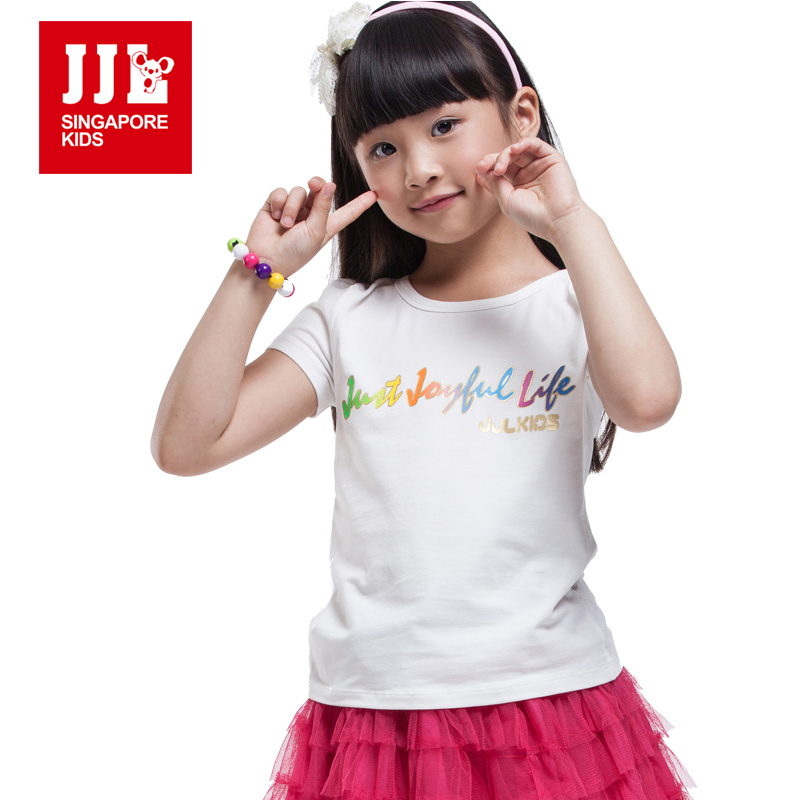 Girls t shirt short sleeve kids t shirts summer kids tops Bulk quality t shirts