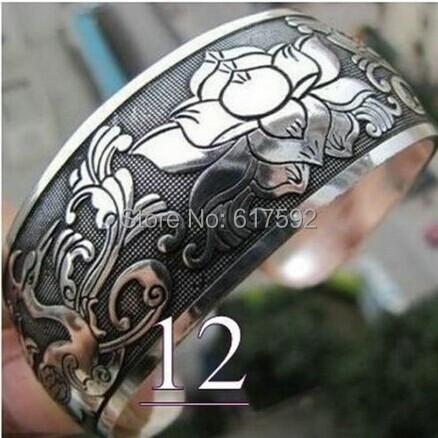 Plata de tíbet único diseño tallado totem amuleto brazalete brazaletes(China (Mainland))
