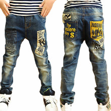 high quality fashion children jeans for boys,slim fit  Korean children's pants,baby boys pants,kids boy jeans Free Shipping