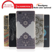 RandGrey original Fashion Painted Pattern TPU Silicone Soft sFor huawei p8 lite Case For p8 lite Cell Phone Back Cover Case