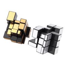 3x3x3 Mirror Blocks Silver Shiny Magic Cube Puzzle Brain Teaser IQ Kid Funny Hot Selling(China (Mainland))