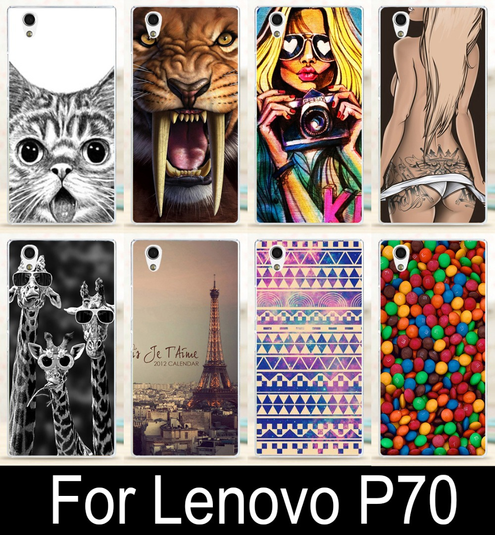 2015 Classic Print Eiffel Tower Rose Tiger Cat Giraffe Sexy Girl Phone Case Cover Skin Shell For Lenovo P70 Phone Cases Covers(China (Mainland))