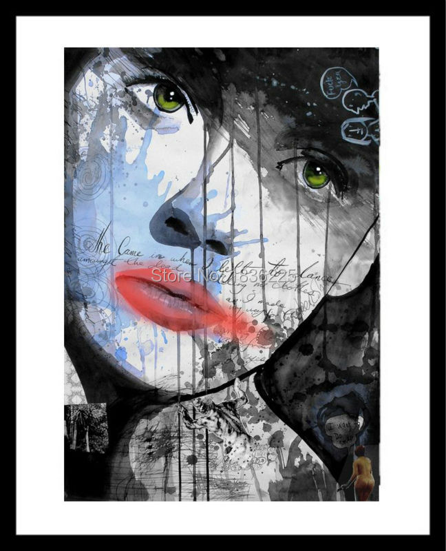 Modern Home Living Room Decor Abstract Wall Art Picture cool woman Face Figure Canvas Art Print Oil Painting On Canvas Paint