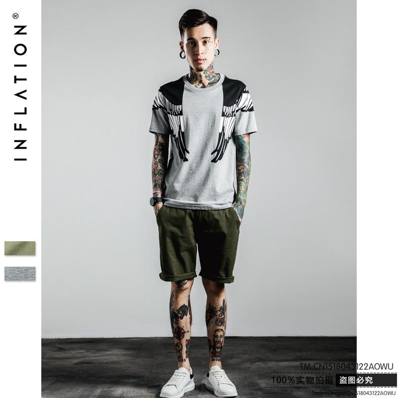 2016 New Brand T Shirt Men's Short Sleeve T Shirt Fashion Eagle Printed T-shirt Men Wing Shoulder(China (Mainland))