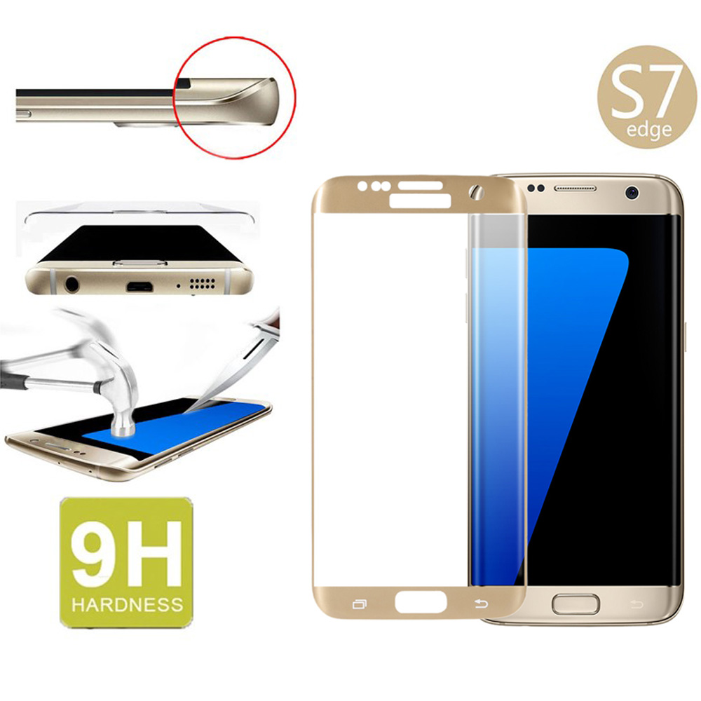 For Samsung Galaxy S7 edge G9350 Full Cover Curved 9H 2.5D Tempered Glass Screen Protector Anti-scratch for galaxy s7 edge(China (Mainland))