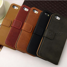 Hot!!! Cowhide Cell Phones Case For iPhone 5 5S Luxury Cow Leather Case For iPhone 5 5S Filp and Stand Design Mobile Phone Cases