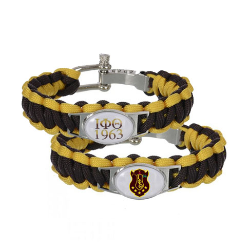 Custom Greek Letters Fraternity ACCESSORIES GIFT 550 Paracord Bracelets Iota Phi Theta Fraternit Adjustable font b