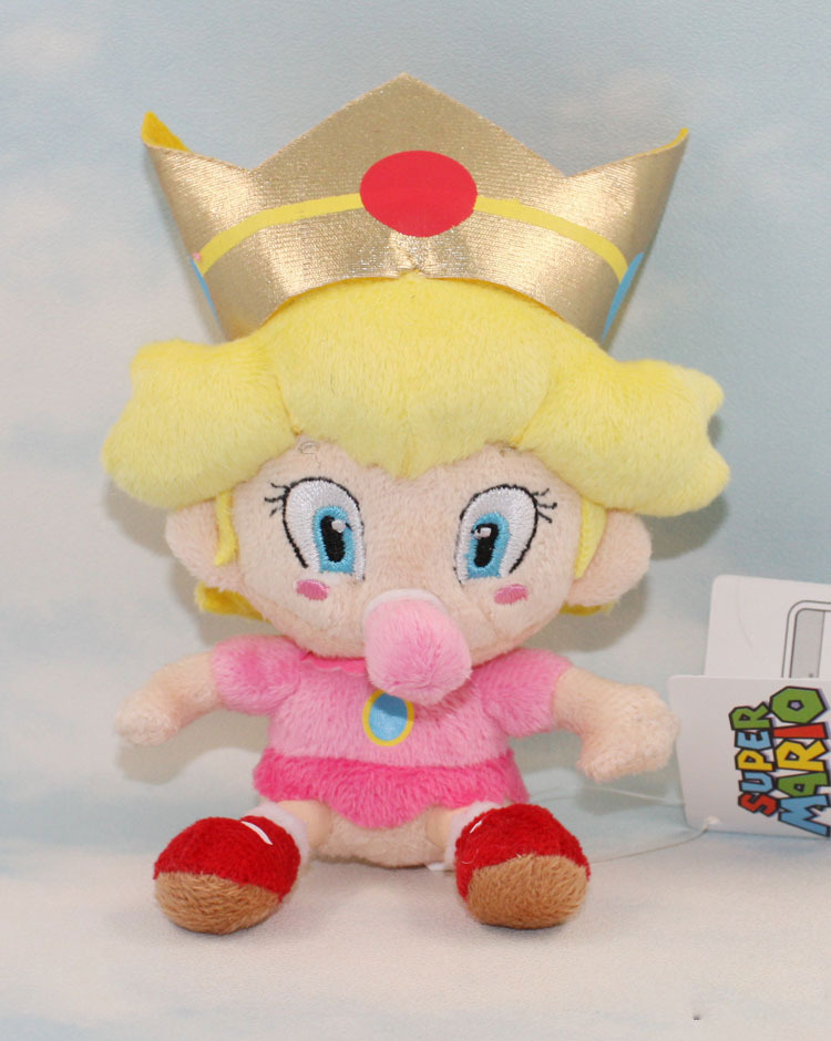 Free Shipping 1pcs  Super Mario Bros. baby Princess Peach 17cm  Soft Plush Doll Wholesale<br><br>Aliexpress