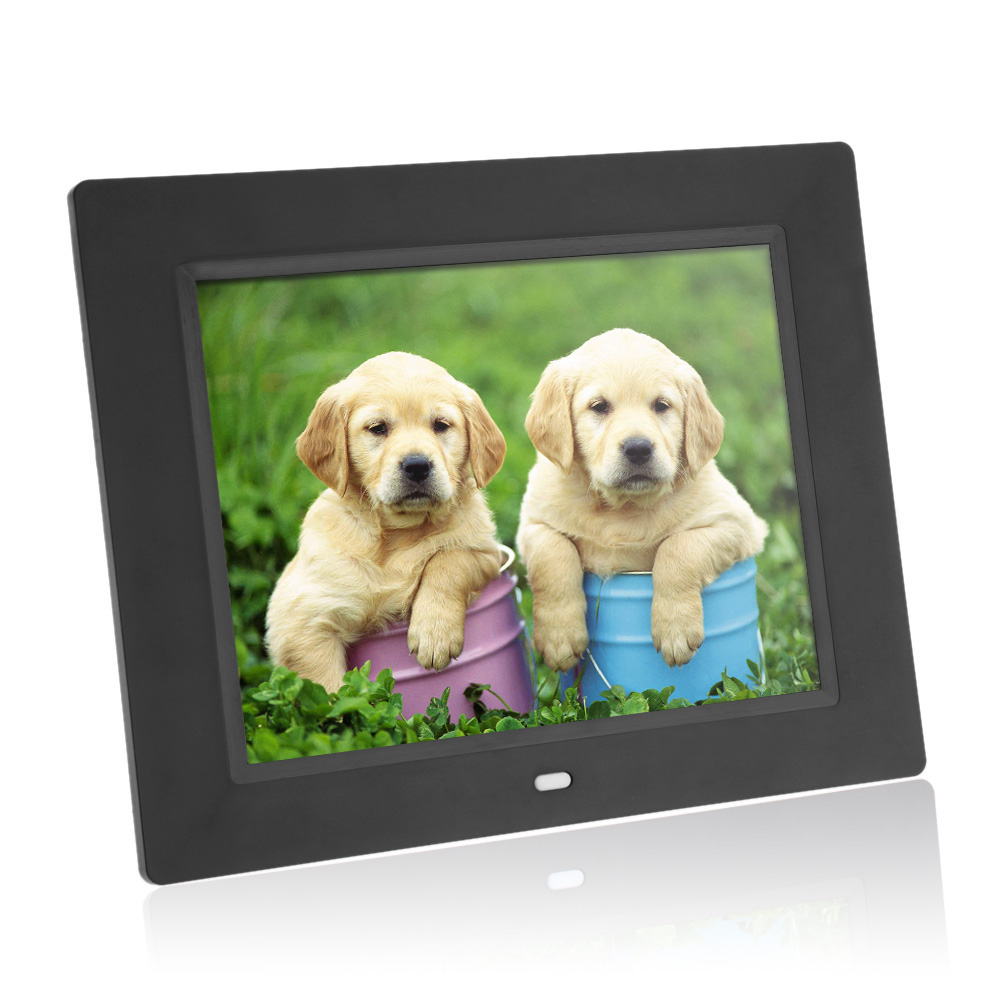 Hot Sale 8'' Ultrathin HD TFT-LCD Digital Photo Frame Alarm Clock MP3 MP4 Movie Player with Remote Desktop Picture Frame(China (Mainland))