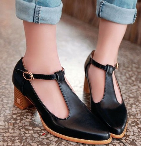 Fashion vintage cutout 2014 pointed toe oxfords shoes thick heels pumps for women sandals summer princess shoes<br><br>Aliexpress
