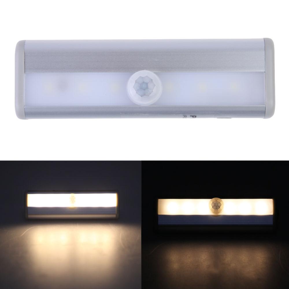 New Arrival 6 LED Ultra Bright Wireless PIR Light Motion Sensor Closet Cabinet Hallway Bedside Night Light Lamp <br><br>Aliexpress