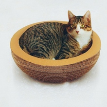 Cat Favorite Toy Disotic Corrugated Paper Scratcher Scratching Post Kitten Cattery Sleep Sofa Pet Product Rascador Gato mascotas(China (Mainland))