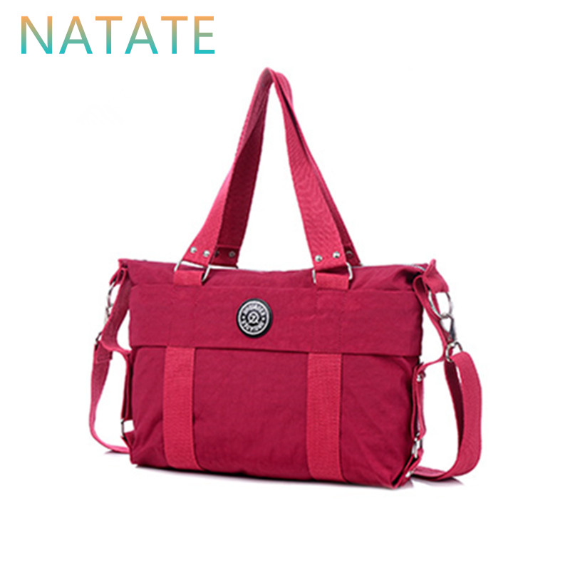 NATATE Women Handbag Solid Waterproof Tote Bags Lightly Crossbody Women Shoulder Bags Ruched Bolsa Feminina -0930(China (Mainland))