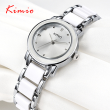 Brand Kimio 2016 Ladies Imitation Ceramic Watch Luxury Gold Bracelet Watches with Fine Alloy Strap Women Dress Watch(China (Mainland))
