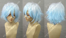 Wholesale& heat resistant LY free shipping>>>Gintama/Silver 07-Ghost Fashion Short Cosplay Party Wig Hair